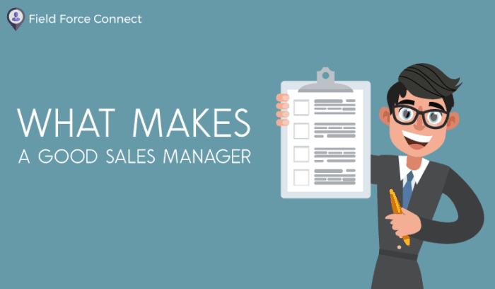 What makes a good sales manager (A man with notes)