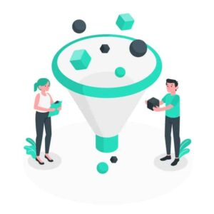 2 person with funnel | Free lead tracking app