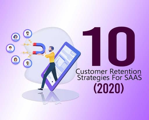 Person coming out of mobile with attracting something with magnet | customer retention strategies for saas
