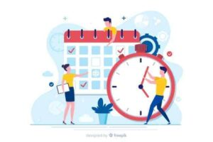 flat-design-characters-doing-time-management | time management | employee time tracking app